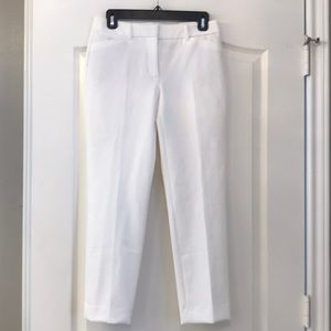 NWT WHBM Slim Fit Ankle Slacks White